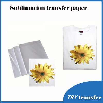 10 Sheets A4 Sublimation Paper Iron On Paper For Fabric T-Shirt Transfer Paper