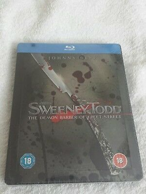 Sweeney Todd Steelbook Edition UK New and Sealed