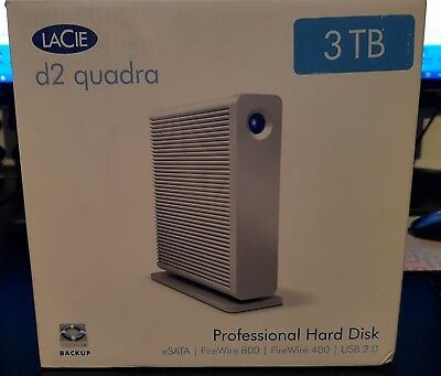 Lacie d2 quadra v2 WORKING (WITHOUT  HARD DISK INSIDE, JUST CASE)