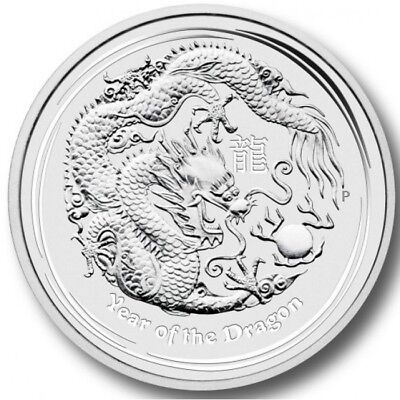 2012 Australia 1 oz Perth .999 Silver Lunar Dragon - From Sealed Roll!
