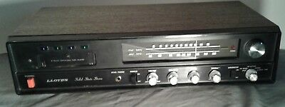 Vintage Lloyd's AM-FM Solid State Stereo Receiver 8 Track Tape Player
