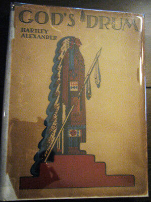 Rare 1927 God's Drum Indian Lore Native American Poetry Book Signed Limited DJ