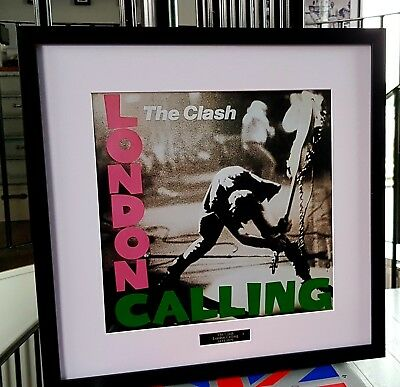 The Clash-Framed Album Cover Print-London Calling-Plaque-Joe Strummer