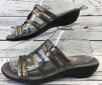 e8b9a0057272 Privo by Clarks Women s Sandals US 7.5M Metallic Pewter Strappy Slide
