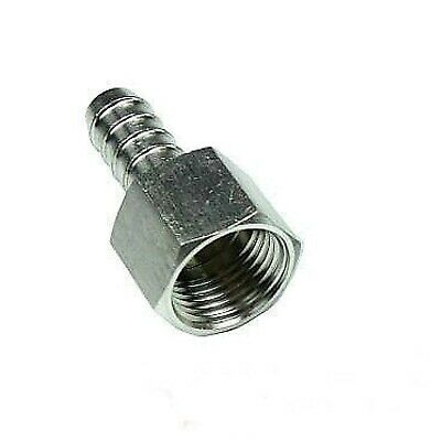 "Durable Stainless 12mm Hose Barb Tail 3/8"" BSP Female Straight Connector Fitting"
