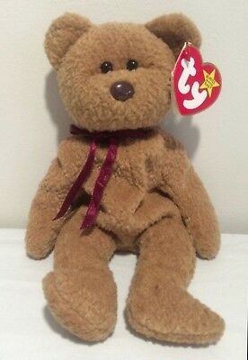 Ty Beanie Babies Curly Teddy Bears New Baby Toy Plush Stuffed Brown NWT