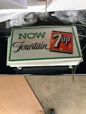 Vintage Lighted 7-up 1950s  L@@k Very Rare Hard To Find