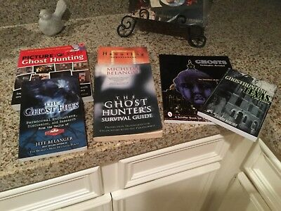 Lot 6 GHOST HUNTING BOOKS survival guide BY JEFF & MICHELLE BELANGER +DVD NEW