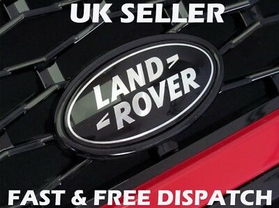 Land Rover Grille Rear Badge Emblem Sticker - Black/Silver Discovery Freelander