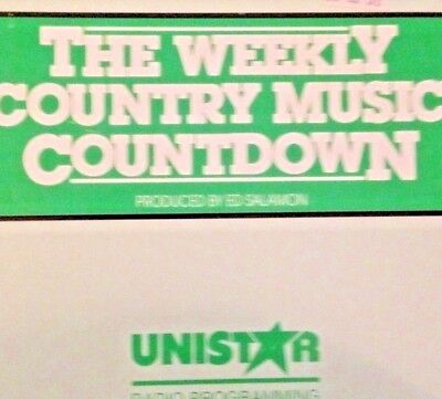 Radio Show: Weekly Country Countdown 7/27/91 Highway 101 Tribute 11 Interviews