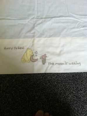 BNWOTS Winnie The Pooh Cot Bed Sheet Cream 100% Cotton Mothercare