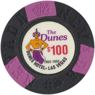 The Dunes Hotel and Casino $100 Bill Borland Commemorative Chips Las Vegas NV