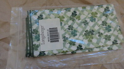 "Longaberger Set of Two 1999 Lots Of Luck 17"" Square Napkins - NEW"