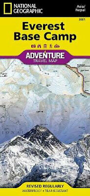 NEW Everest Base Camp, Nepal By National Geographic Maps Folded Sheet Map