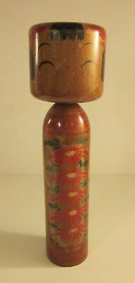 Rare Antique Japanese Kokeshi Wooden Doll Signed 12""