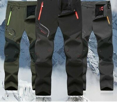 Softshell Hiking Pants For Men Winter Trouser Camping Waterproof Thermal Clothes