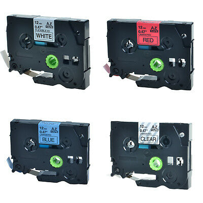 4PK TZ TZe 531 431 231 131 Label Tape For Brother P-Touch PT-D200 PT-540 12mmx8m
