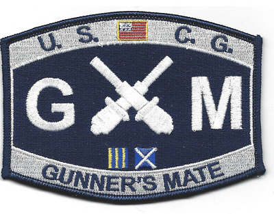 """4.5"""" Coast Guard Gunner's Mate Embroidered Patch"""