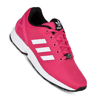 newest 02e27 2f2a9 ADIDAS ZX FLUX Ladies Childrens Shoes Equipment Pink S74952