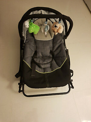 Steelcraft Denim Baby Rocker Bouncer - Hardly used