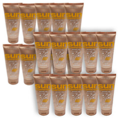 Wholesale Job Lot of 20x 100ml Rimmel London Sun Shimmer Instant Sexy Fake Tan