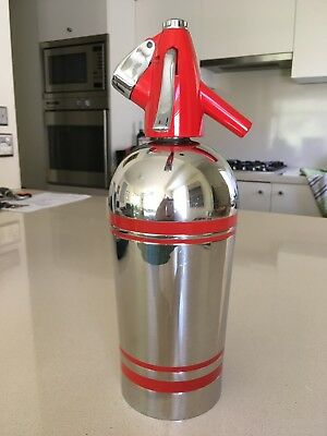 Sparklets stainless steel soda siphon; British Oxygen Company 1958