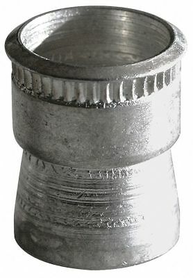 Avk Aluminum Knurled Rivet Nut 9.400mm L, M3-0.50 Dia./Thread Size, 10 PK