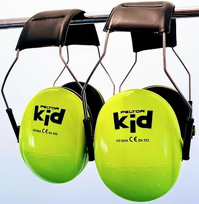 2 x Peltor Kid ear muffs - neon green