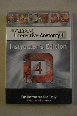 - A.d.a.m. Interactive Anatomy 4  [Cd-Rom] Instructor's Edition [Aussie Seller]