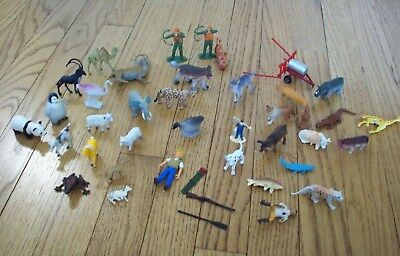 Lot of 41- Zoo Animals, Safari Animals. Farm Animals, People Figures