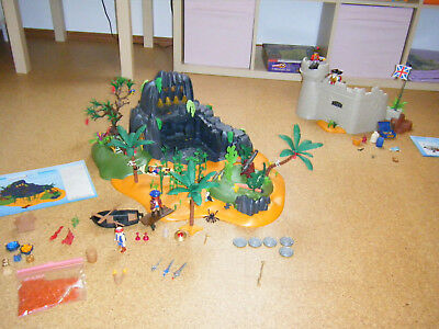 Playmobil Pirateninsel 5134 + Soldatenfestung 5139 Top Zustand!