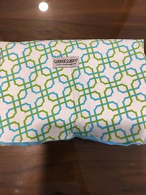 Car Seat Canopy Cover Infant Hayden Blue, Lime Green And White