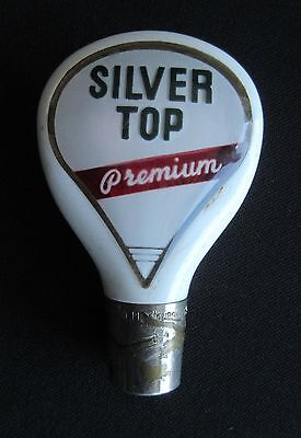 Duquesne Brewing Silver Top Beer Tap Handle Pittsburgh PA (Knob, Pull)
