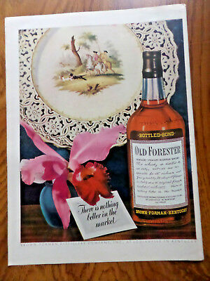 1943 Old Forester Kentucky Whiskey Whisky Ad Nothing better in the Market