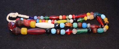 Strand of mostly European trade beads, traded into Africa