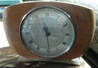 vintage smiths tempora mantle 8 day clock for spares or repair