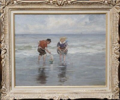 Charles Paul Gruppe (Am, 1860 - 1940) Children Playing