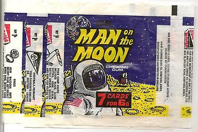 A&bc Gum Man On The Moon Set A 3 Wax Wrappers 1969 Pennant Camp Knife Bazooka
