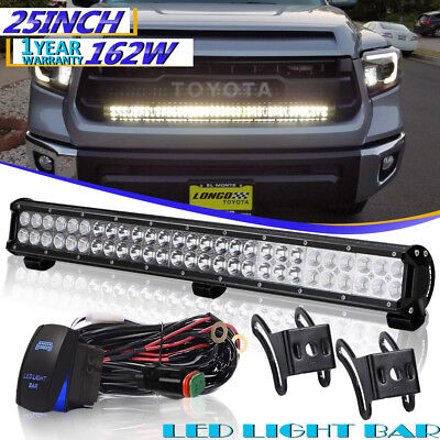 """25""""162W Led Light Bar Spot Flood FOR Offroad Jeep FORD TOYOTA Driving Lamp 24""""26"""