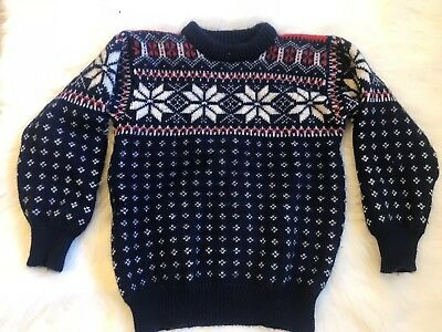 DALE OF NORWAY Nordic Wool SWEATER Thick Child's Sweater US 10 European 40