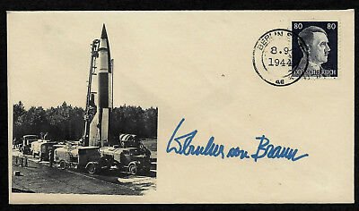 V2 Rocket Collector's Envelope with genuine 1944 Hitler Postage Stamp *OP1281