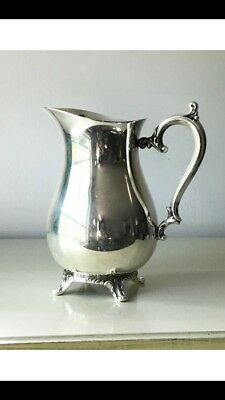 19th Century Antique Wm Rogers Silver Plate Pitcher Circa 1800s