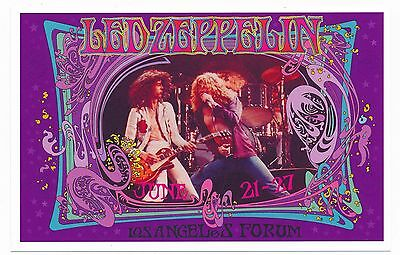 Led Zeppelin Bob Masse Los Angeles Forum June 21-27-1976-Replica Handbill