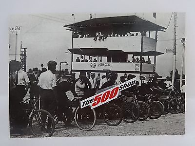 1909 First Motorcycles Race Indianapolis Motor Speedway Postcard
