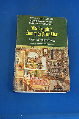 The Complete Antiques Price List, Ralph & Terry Kovel 1973
