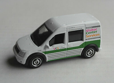 Matchbox 2010 Ford Transit Connect weiß Visitor Center Services MBX Van Mattel