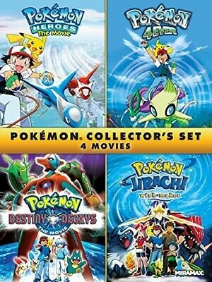 POKEMON COLLECTOR'S SET 4 MOVIES New DVD 4Ever Heroes Destiny Deoxys Jirachi