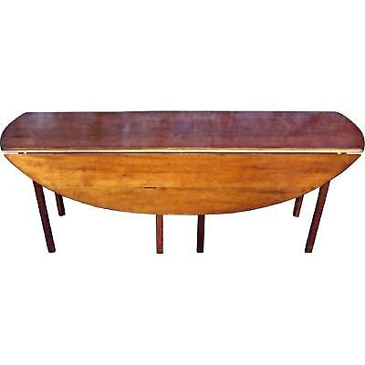 """WRIGHT Cherry 79""""L Hunt Drop Leaf Dining Table Console Side Sofa Server Vintage"""