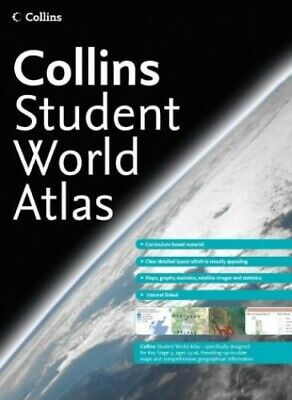 Collins Student Atlas (World Atlas) Paperback Book The Cheap Fast Free Post