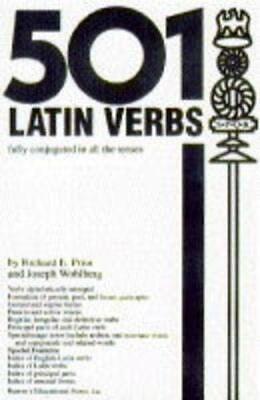 501 Latin Verbs (501 Verbs S.) by Wohlberg, J. Paperback Book The Cheap Fast